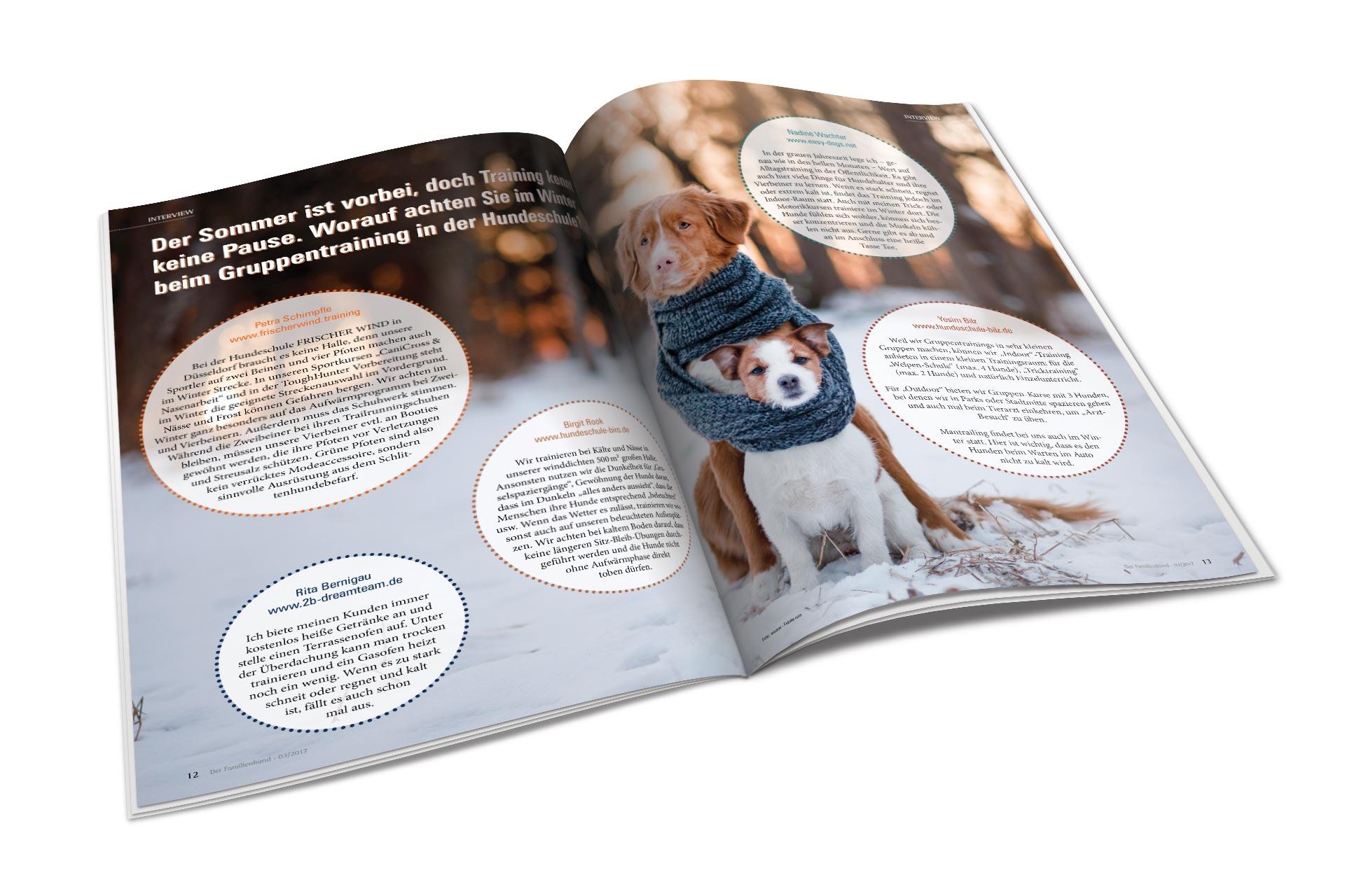 Magazindesign - Der Familienhund