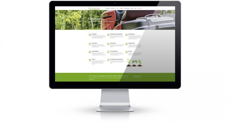 Gartenpflege Zeuthen Webseite Leistungen