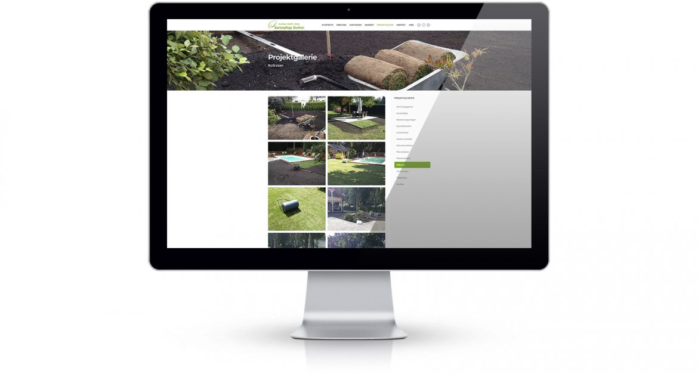Gartenpflege Zeuthen Webseite Projektschau
